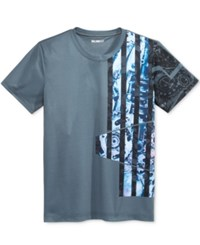 William Rast Men's Graphic Print T Shirt Medium Heather Gray