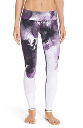 Alo Yoga Women's Alo 'Airbrushed' Glossy Leggings Purple Pennant Smoke Print