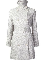 Stella Mccartney Leopard Trench Coat White