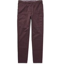 Brunello Cucinelli Cotton Twill Cargo Trousers Burgundy