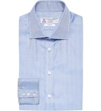 Turnbull And Asser Regent Collar Slim Fit Cotton Shirt Sky