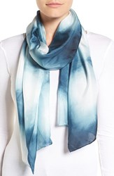 Eileen Fisher Women's 'Awakenings' Shibori Silk Scarf Fir