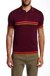 Parke And Ronen Jet Age Knit Polo Red