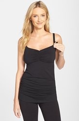 Women's Cake 'Gelato' Shirred Nursing Tank Black