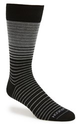 Hook Albert 'Gray' Variegated Stripe Socks Grey