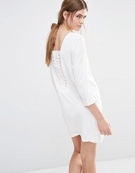 See U Soon Shift Dress With Lattice Back Off White
