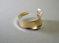 Hammered 14K Anticlastic Cuff Bracelet With By Nicilaskin On Etsy