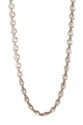 Givenchy Circle Crystal Strand Necklace Brown