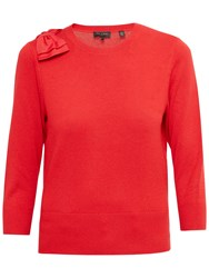 Ted Baker Callah Oversized Bow Sweater Bright Red