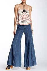 Free People Gilmour High Rise Wide Leg Jean Blue