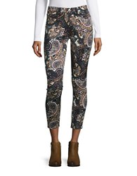 7 For All Mankind Paisley Skinny Pants