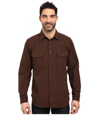 Filson Yukon Chamois Shirt Cocoa Brown Men's Clothing