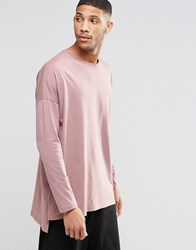 Asos Extreme Oversized Long Sleeve T Shirt In Pink Pink
