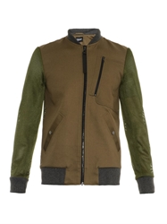 Christopher Raeburn Cotton And Contrast Mesh Bomber Jacket