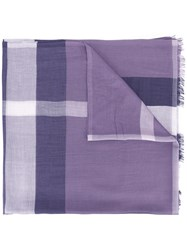 Burberry Checked Scarf Pink Purple