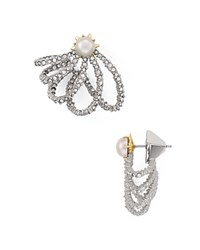 Alexis Bittar Pave Lace Orbiting Stud Earrings Silver