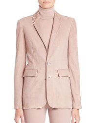 Ralph Lauren Yvette Suede Blazer Winter Rose