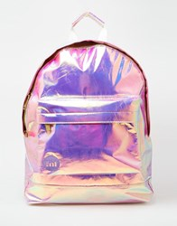Mi Pac Backpack In Hologram Pink