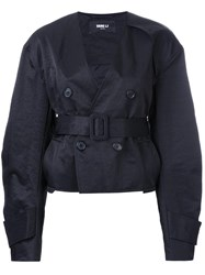 Yang Li Short Aviator Jacket Black