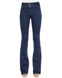 Veronica Beard Zip Pocket Denim Trousers Medium Blue