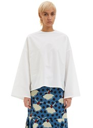 Marni Oversized Poplin Shirt White