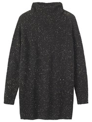 Toast Donegal Wool Tunic Dress Old Black