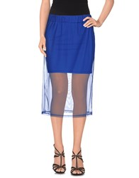 Kontatto Skirts Knee Length Skirts Women Blue