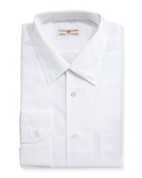 Luciano Barbera Lightweight Cotton Blend Sport Shirt White