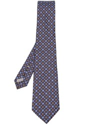 Canali Tile Jacquard Tie Green