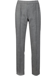 Rosie Assoulin Houndstooth Print Trousers Black