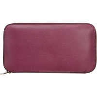 Valextra Zip Around Wallet Malva Purple