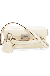 Mark Cross Grace Small Leather Shoulder Bag Ivory