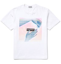 Cav Empt Embellished Cotton Jersey T Shirt White