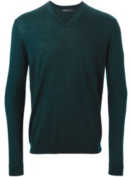 Pringle Of Scotland V Neck Sweater Green