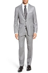 Hickey Freeman Men's Heritage Classic Fit Solid Wool Blend Suit
