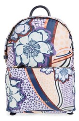 Ted Baker London Floral Print Backpack Blue Navy