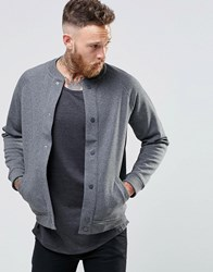 Lee Bonded Sweat Bomber Jacket Dark Grey