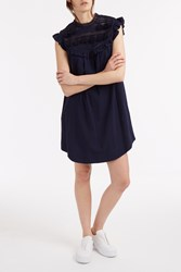 Sea Tassel Lace Dress Navy