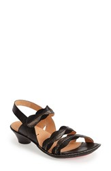 Women's Think 'Soso' Leather Slingback Sandal Black