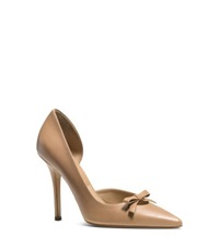 Michael Kors Alessandra Leather Bow Pump Toffee