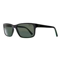 Polo Ralph Lauren Ph4076 Polo Player Rectangular Sunglasses Shiny Black