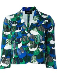 Dsquared2 Feather Print Short Jacket Green