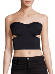 Kendall Kylie Tuxedo Bustier Top Black
