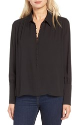 J.O.A. Women's Covered Button Crepe Blouse