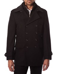 7 Diamonds Glasgow Wool Blend Peacoat Black