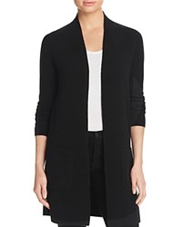 Bloomingdale's C By Cashmere Open Cardigan Black