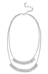 Cristabelle 'Waterfall' Multistrand Necklace Crystal