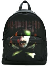 Givenchy Skull And Crossbones Printed Backpack Black