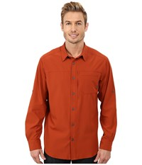 Columbia Global Adventure Iii Long Sleeve Shirt Sanguine Men's Long Sleeve Button Up Orange