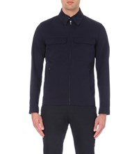 Reiss Casablanca Cotton Jacket Navy
